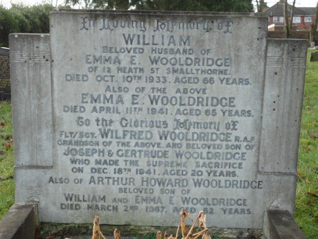 Flight Sergeant Wilfred Wooldridge