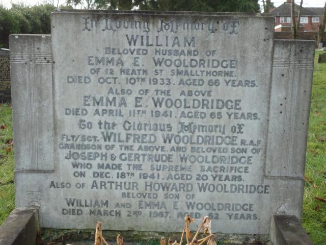 Flight Sergeant Wilfred Wooldridge