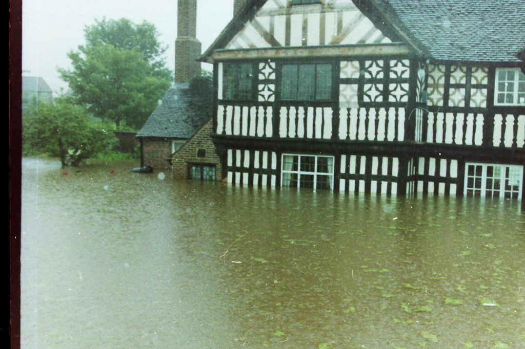 Ford Green Hall Flooded in 1970's