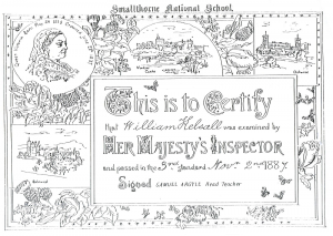 School Certificate from 1887