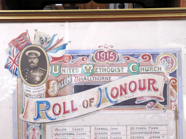 Roll of Honour – Salem Methodist Church.