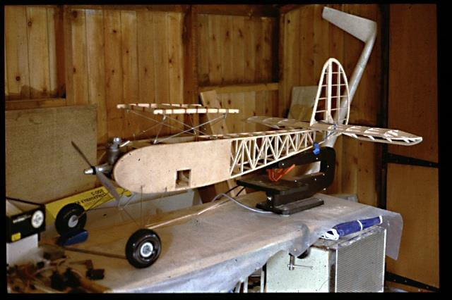 Plane being built