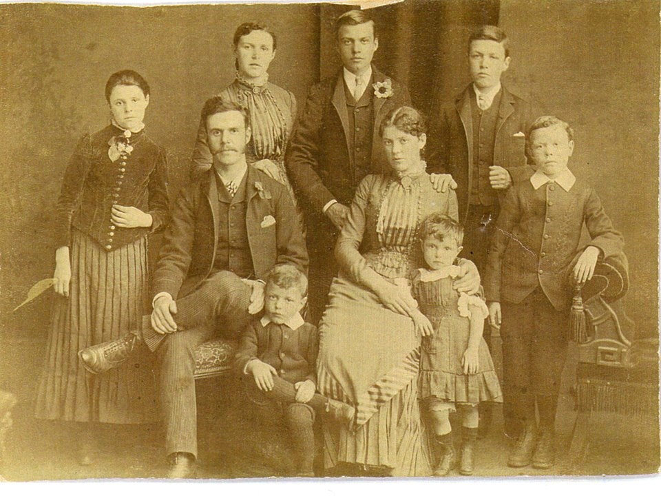 William's nine eldest children